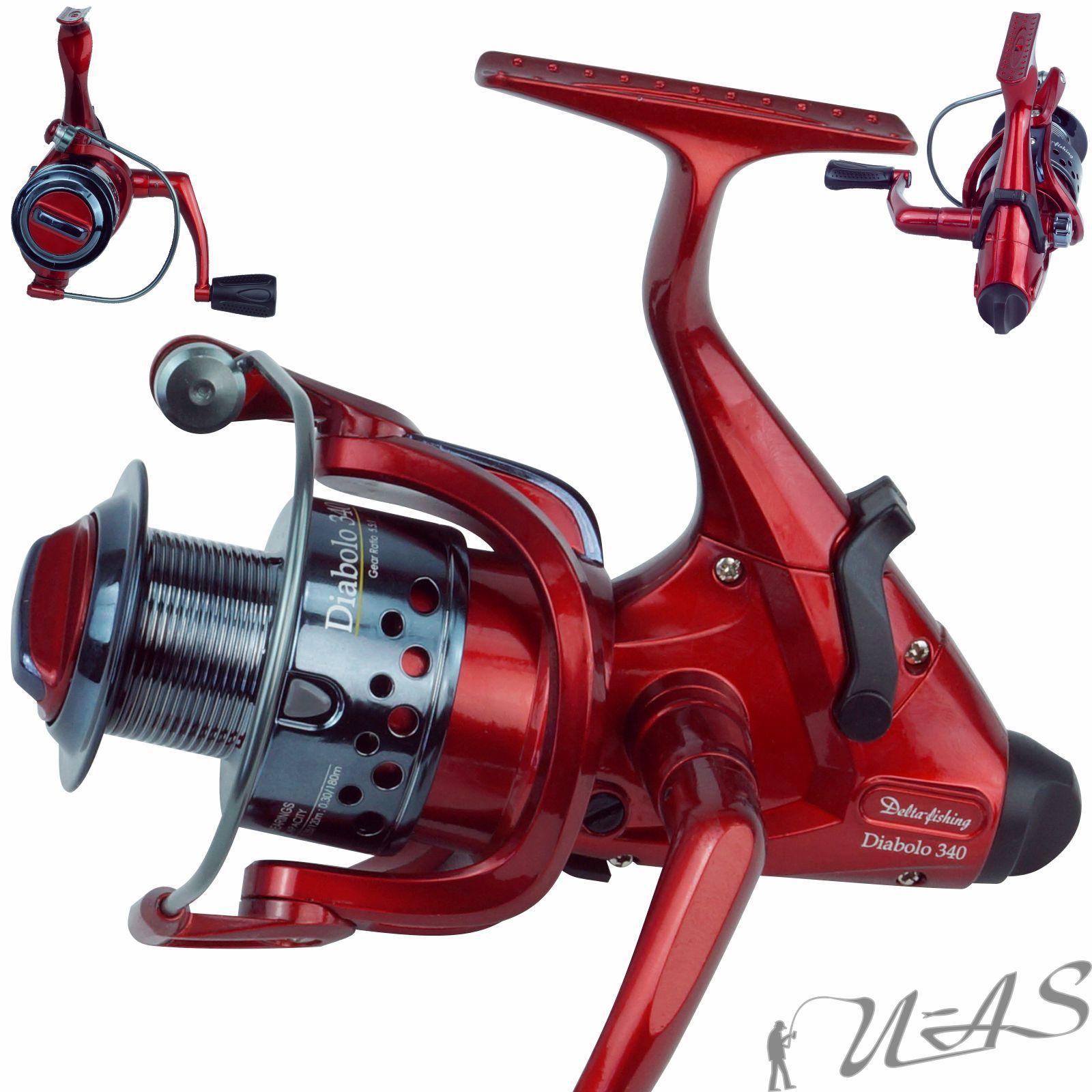 Delta Fishing Diabolo 340 Freilaufrolle 3KL 180M//30er 5,5:1 Karpfen Rolle Sha