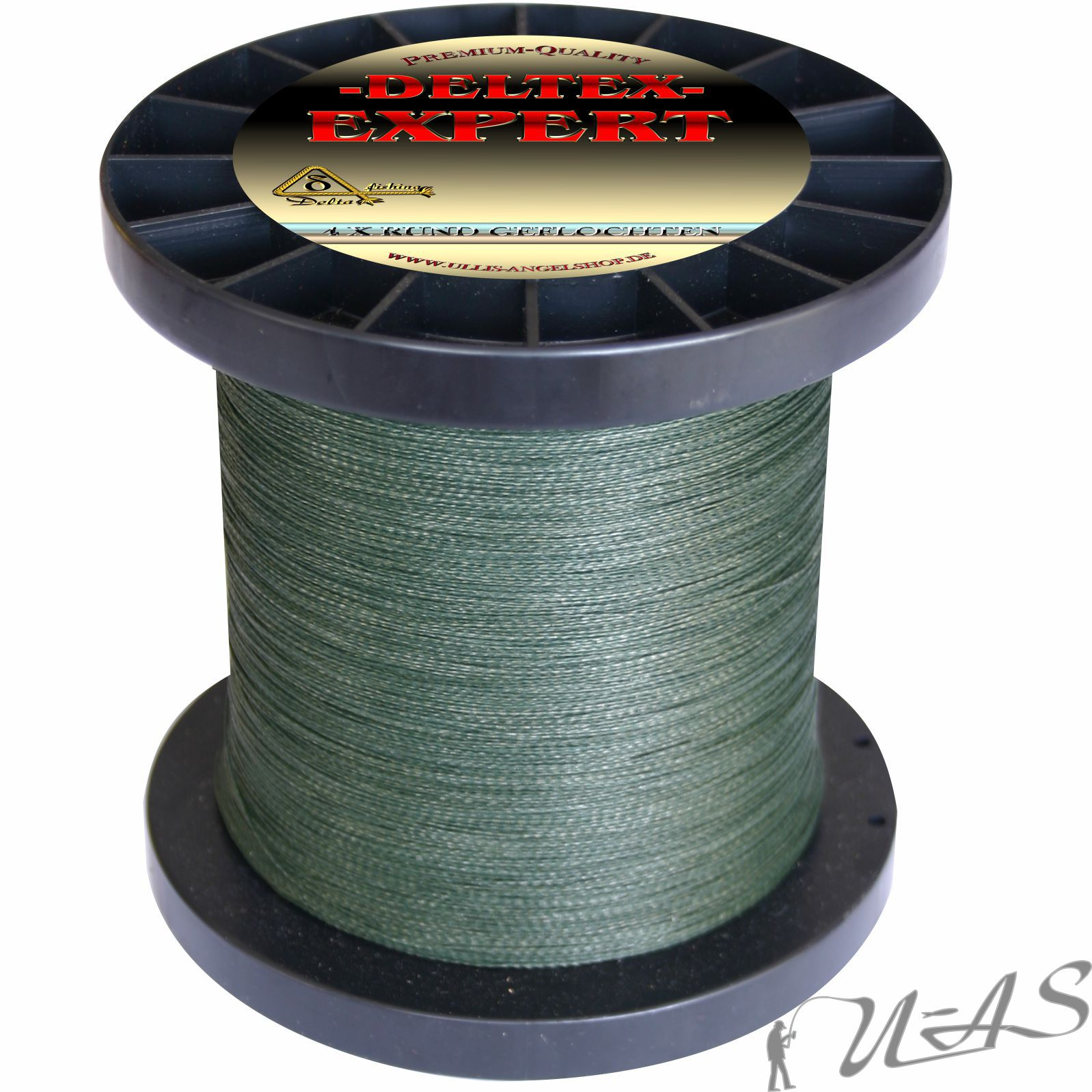 Deltex Expert circa intrecciato lenza 0,48mm 1000m verde 100% qualità PE