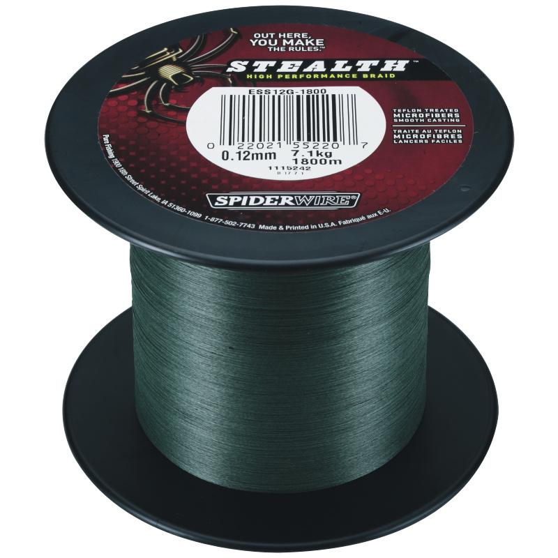 SPIDERWIRE STEALTH verde 0,12mm 1800m 7,30kg 7,30kg 1800m intrecciato lenza Verde SHA c29c89