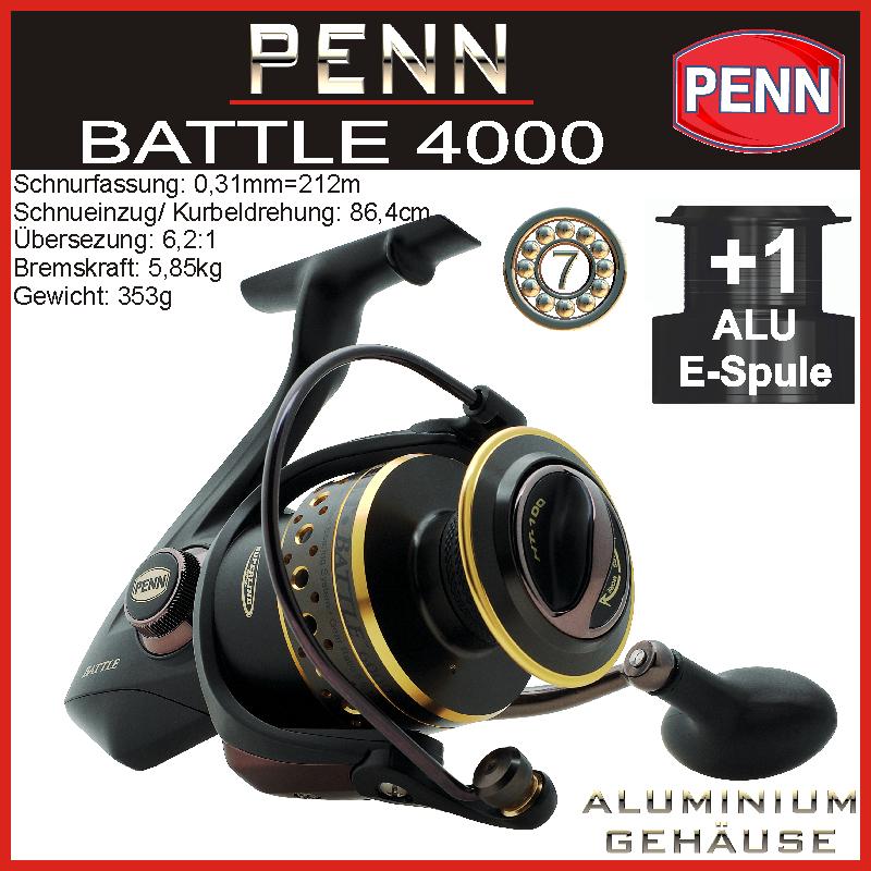Penn Battle 1000-8000 1000-8000 1000-8000 materie tessili fino Waller ruolo misura a scelta + aluspule c96878