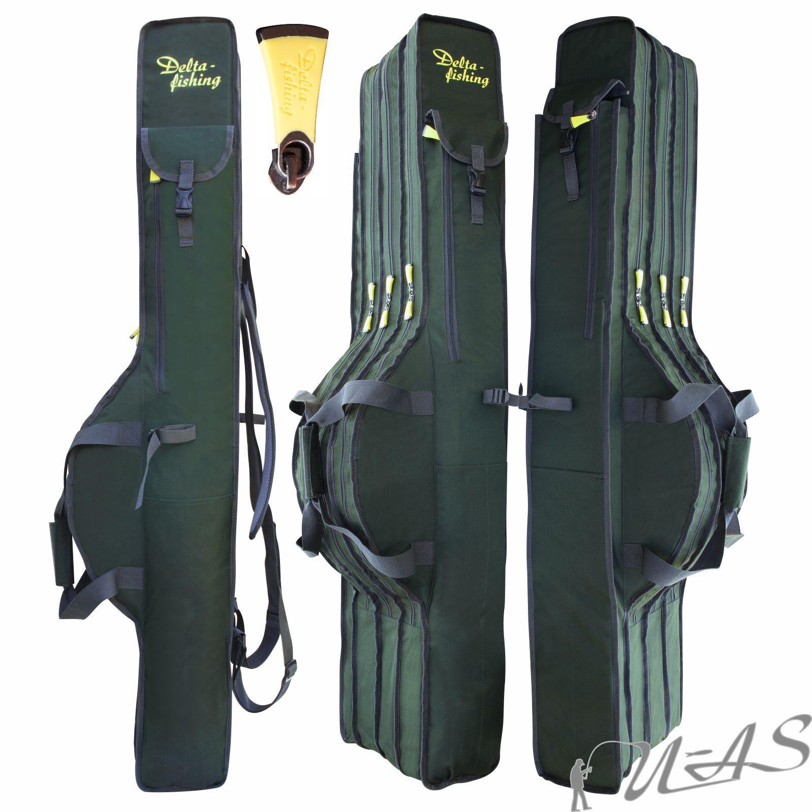 Delta Fishing 3Fach Rutentasche 100-195CM Futteral Rutenfutteral Angeltasche Kva