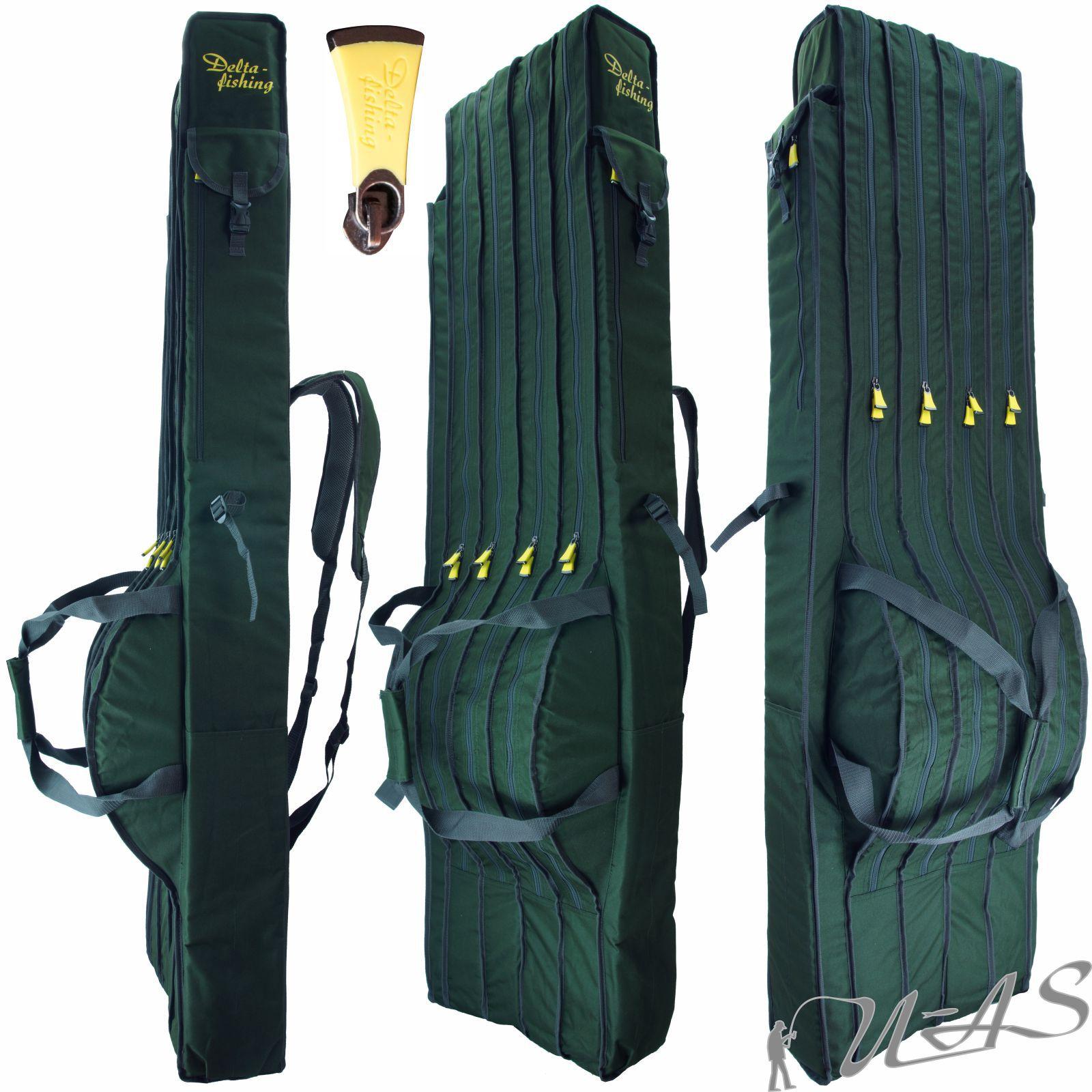 Angel Taschen Set Angeltasche Rutentasche Angelkoffer Teleskoprute Ruten Bag