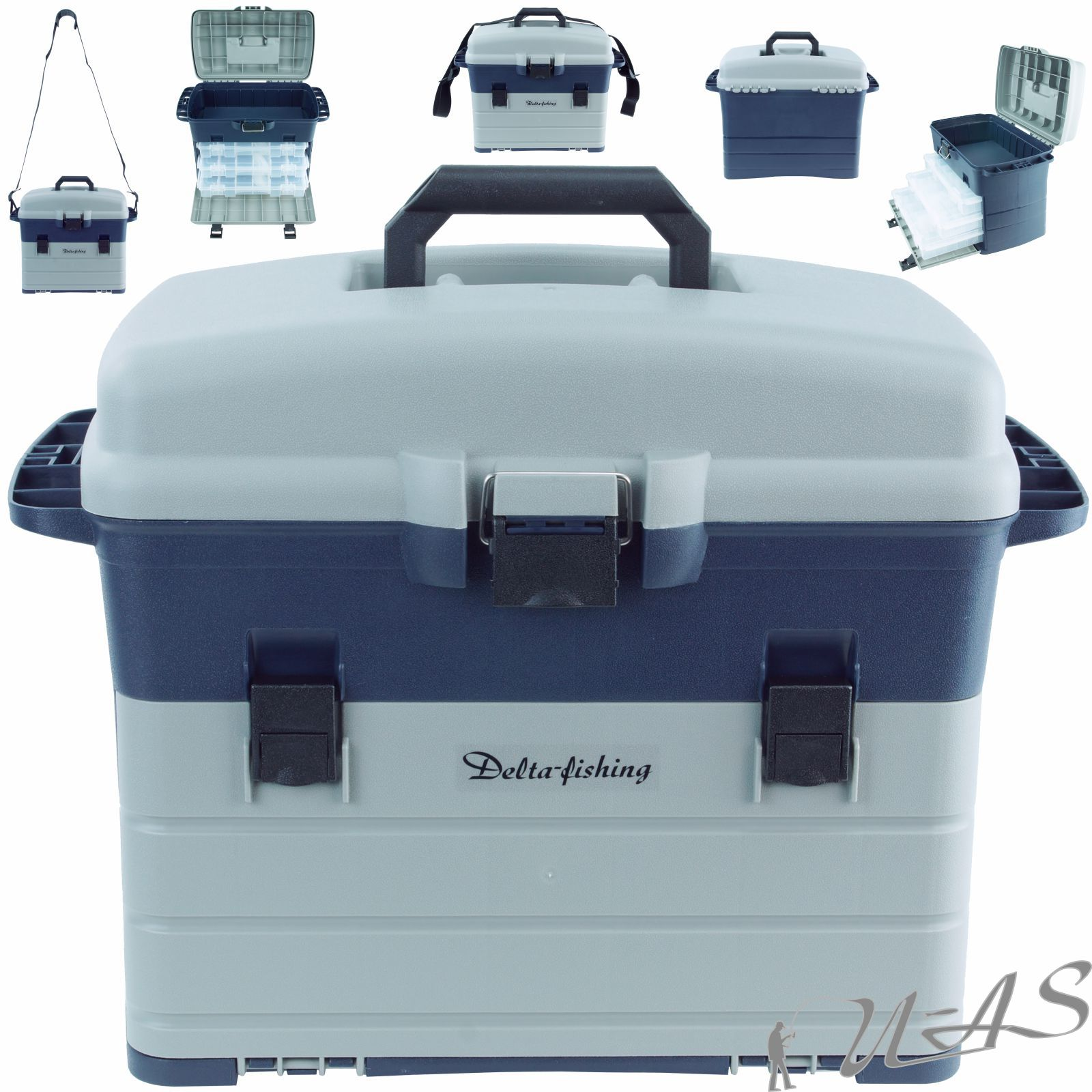 Delta Fishing XXL Tackle Box 36X 22,5 X 8CM Köderbox Zubehör Box Angel Box Sha