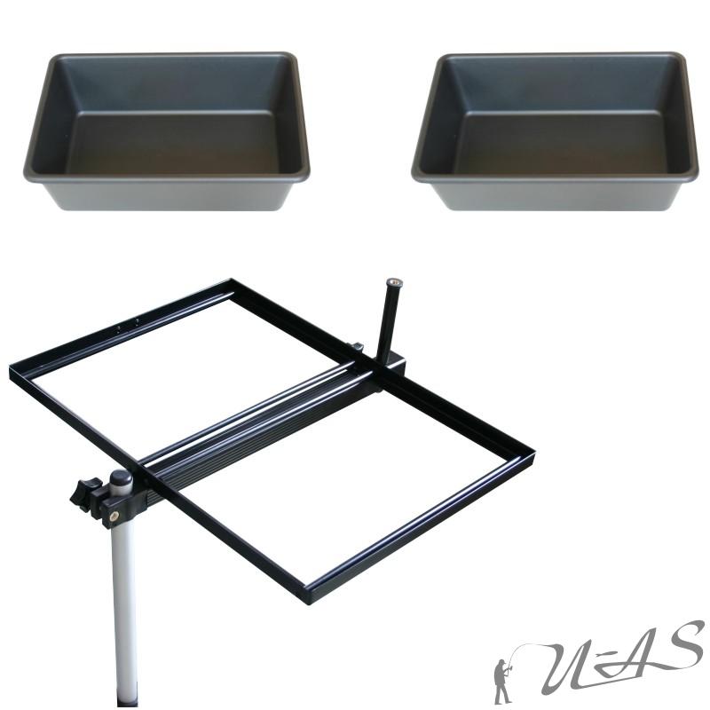 Delta Fishing Spar Set 4 X 2,0L KöderDose Madendose Bait Box für Sitzkiepe Kva