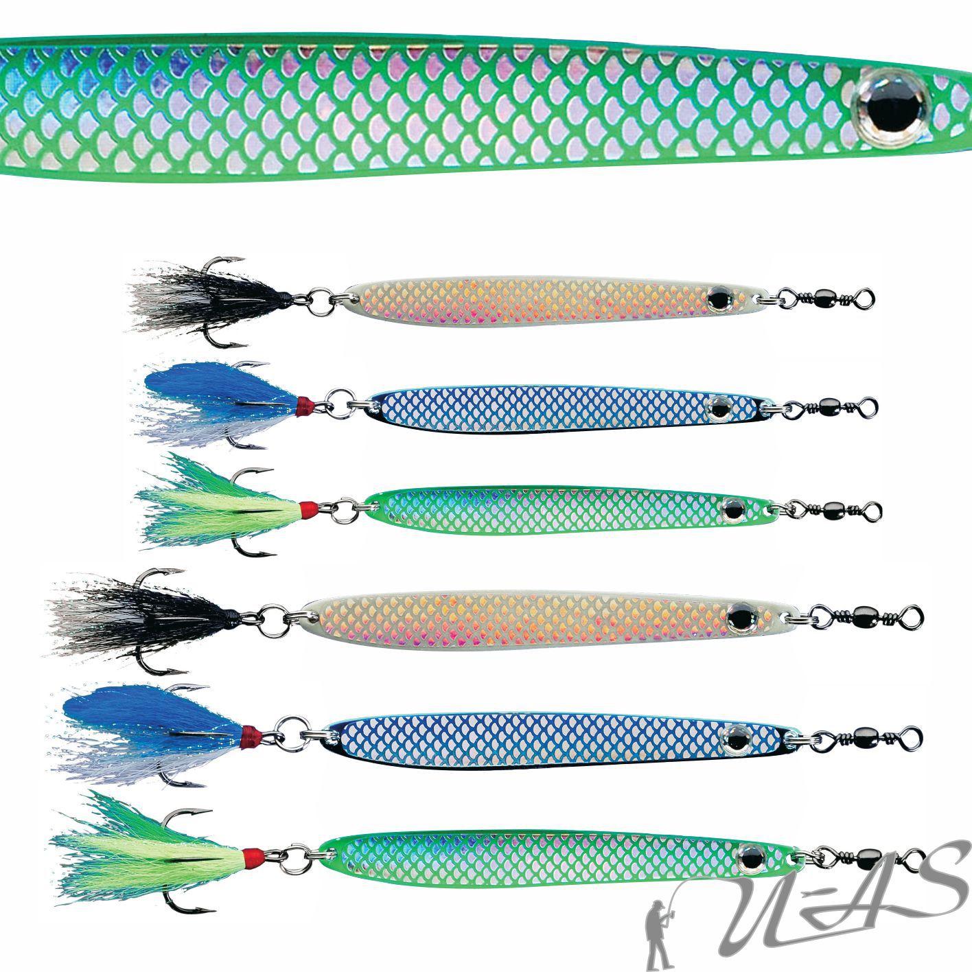 Delta Fishing Qualitäts Octopus Blinker Leuchtgrün 10CM 35G 5101036 Sha