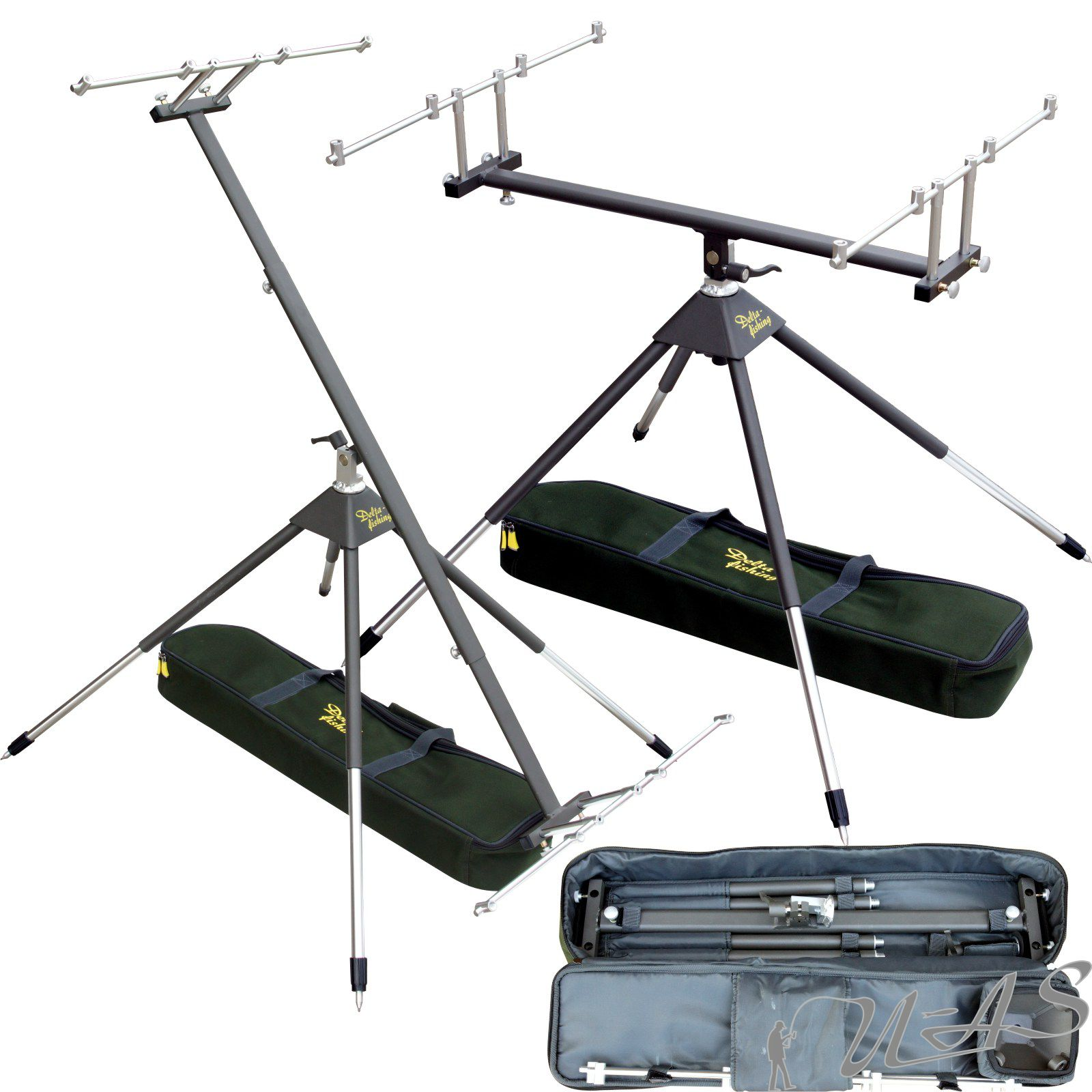 schwarz Daiwa D-Pod aus Aluminium Rod Pod für 3 Ruten 18800-950